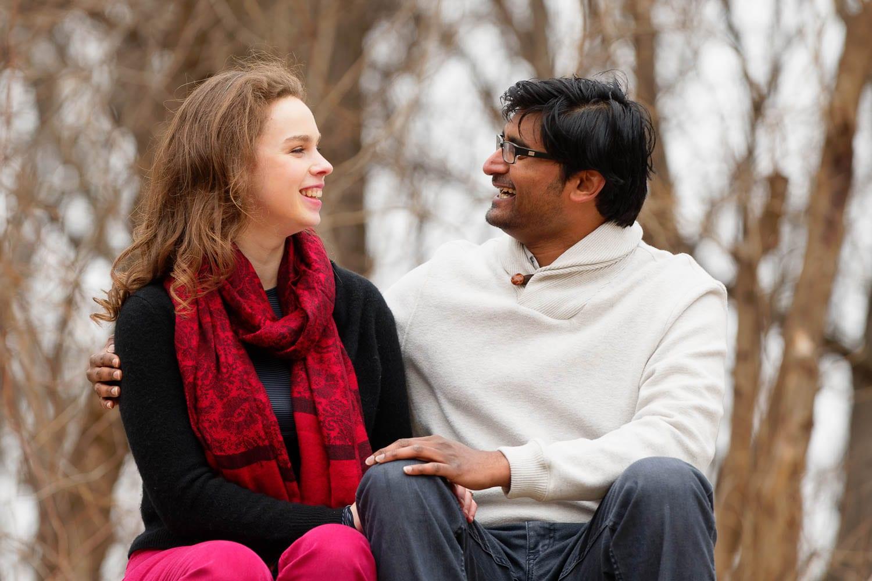 Hidden Falls Engagement session couple
