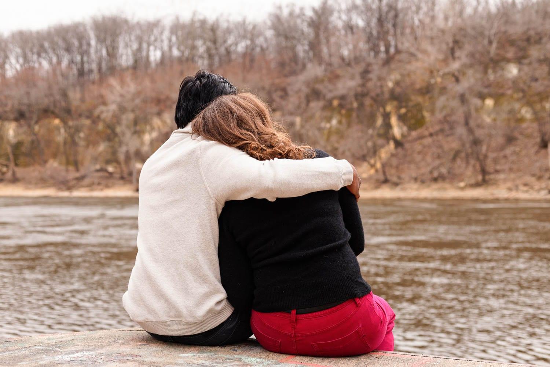 Hidden Falls Engagement photo