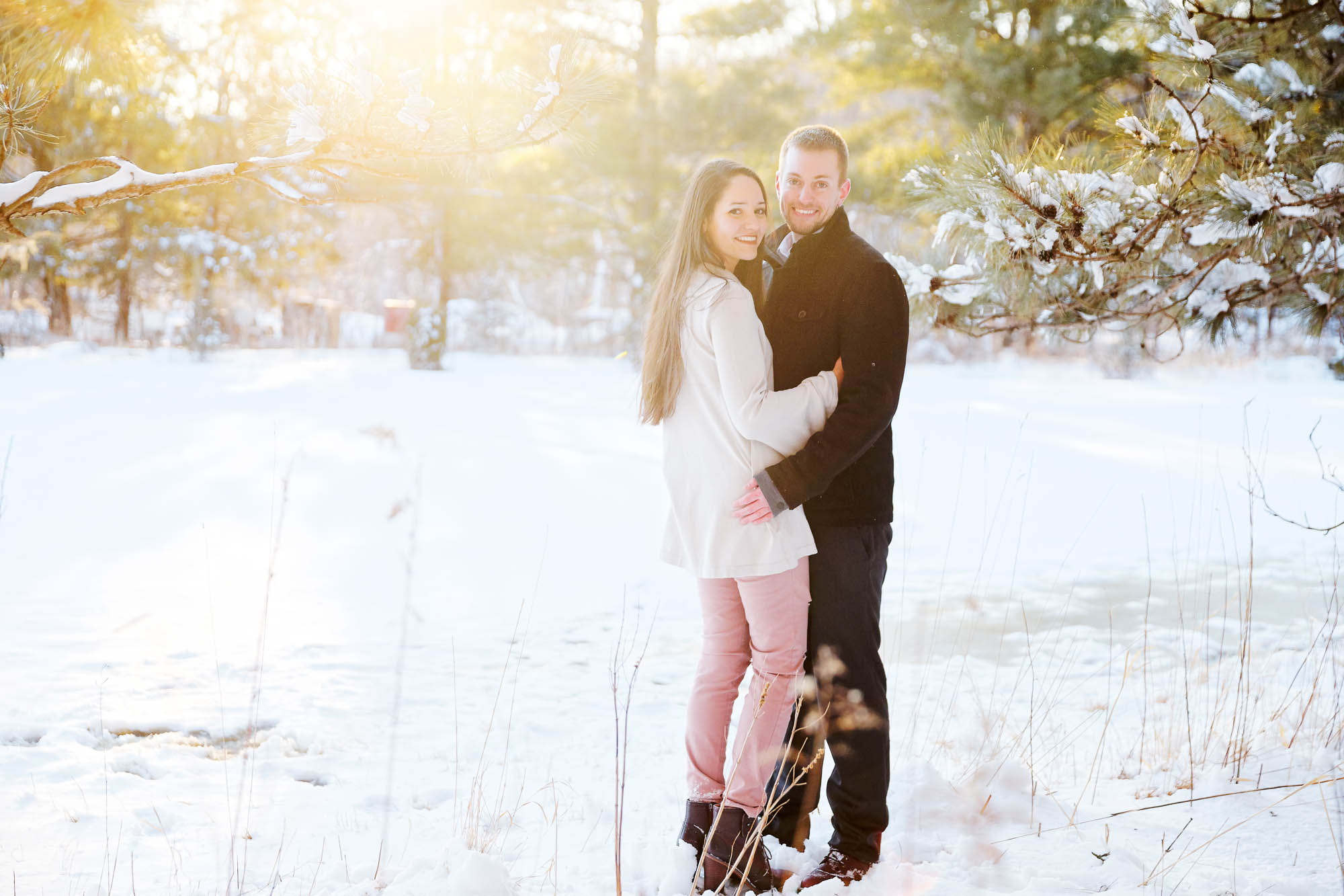 engagement session rochester mn snow