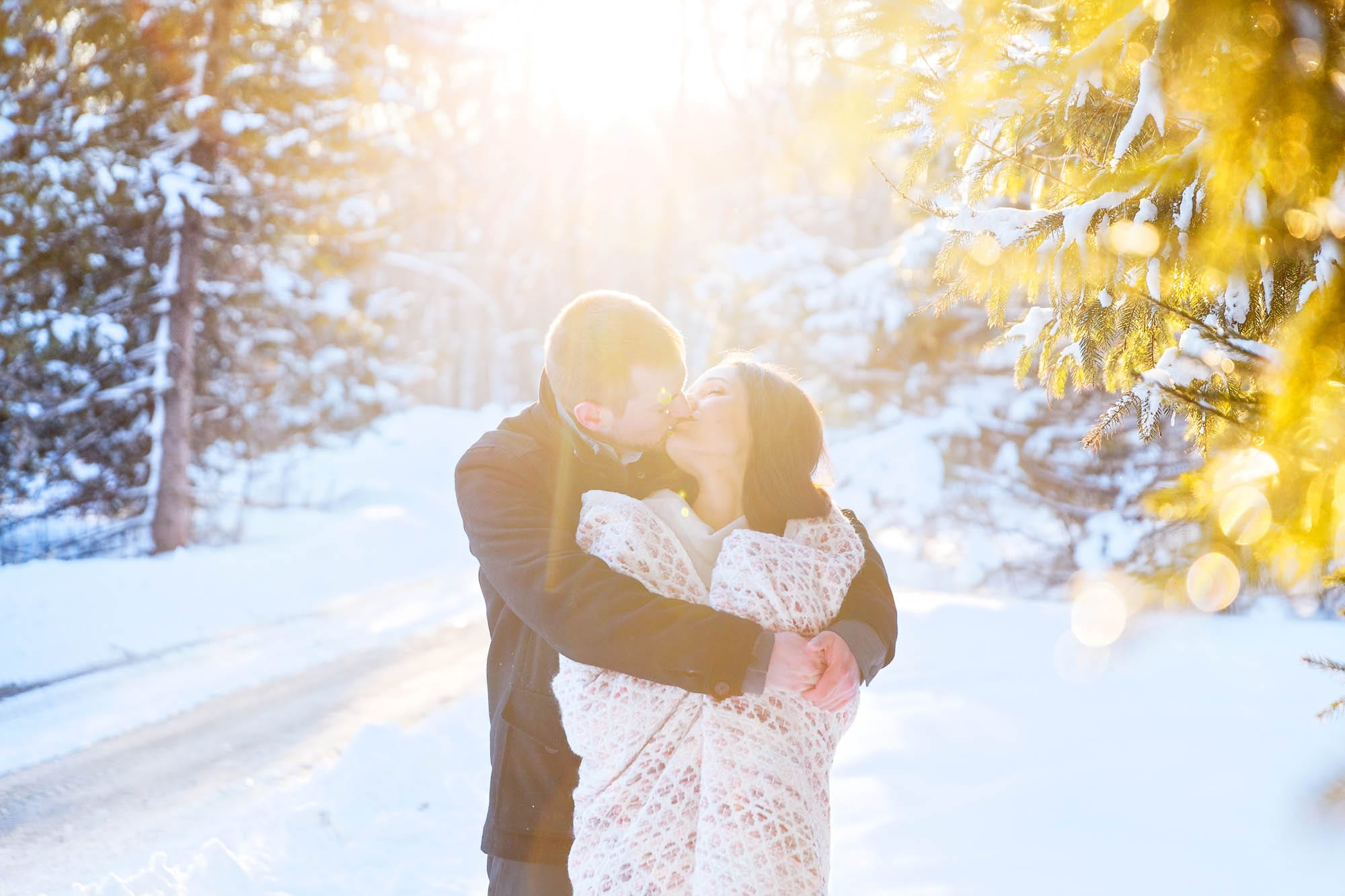 Engagement session rochester mn snow-26