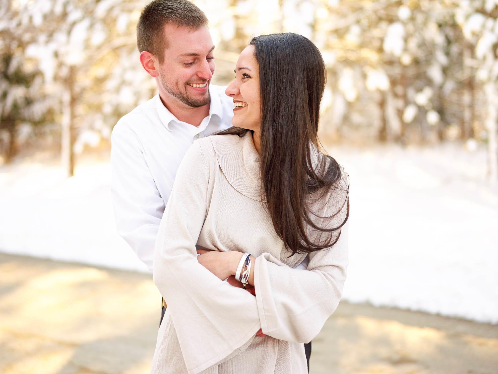 Engagement session snow