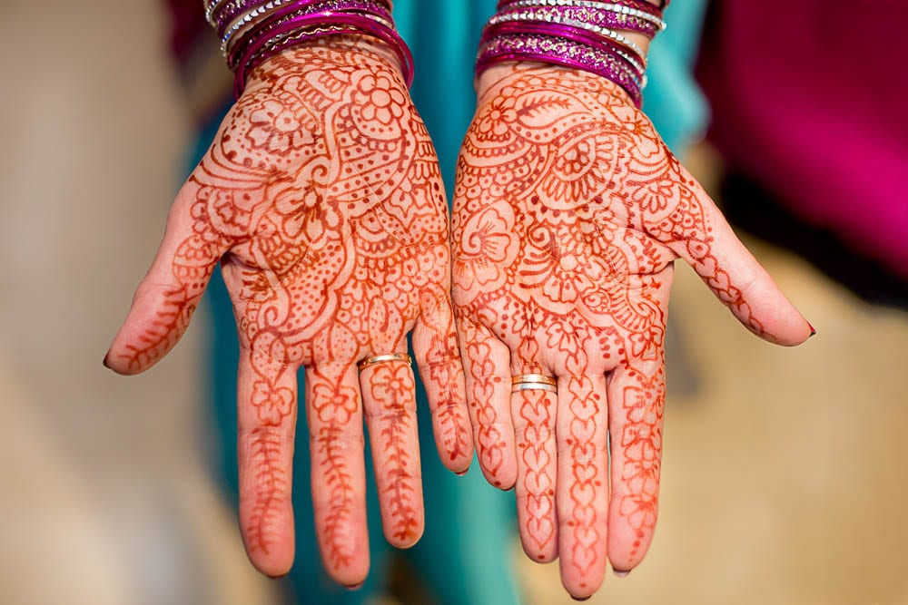 details shoot of henna hands indian wedding