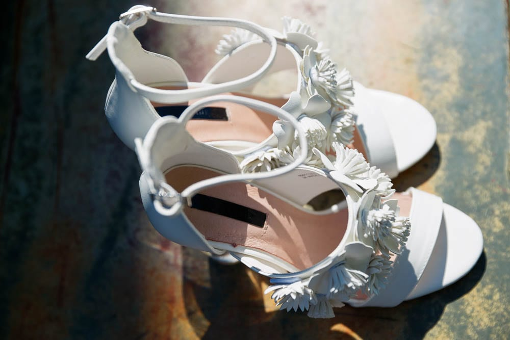 white shoes with decoration