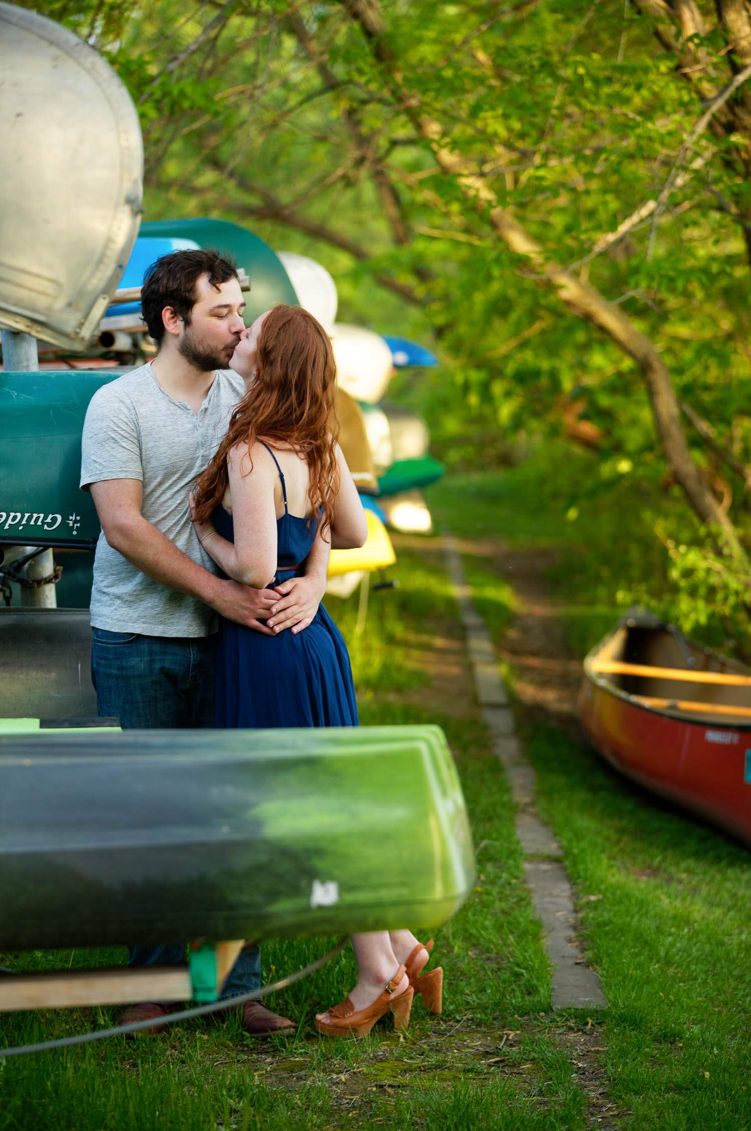 — kissing between the canoes —