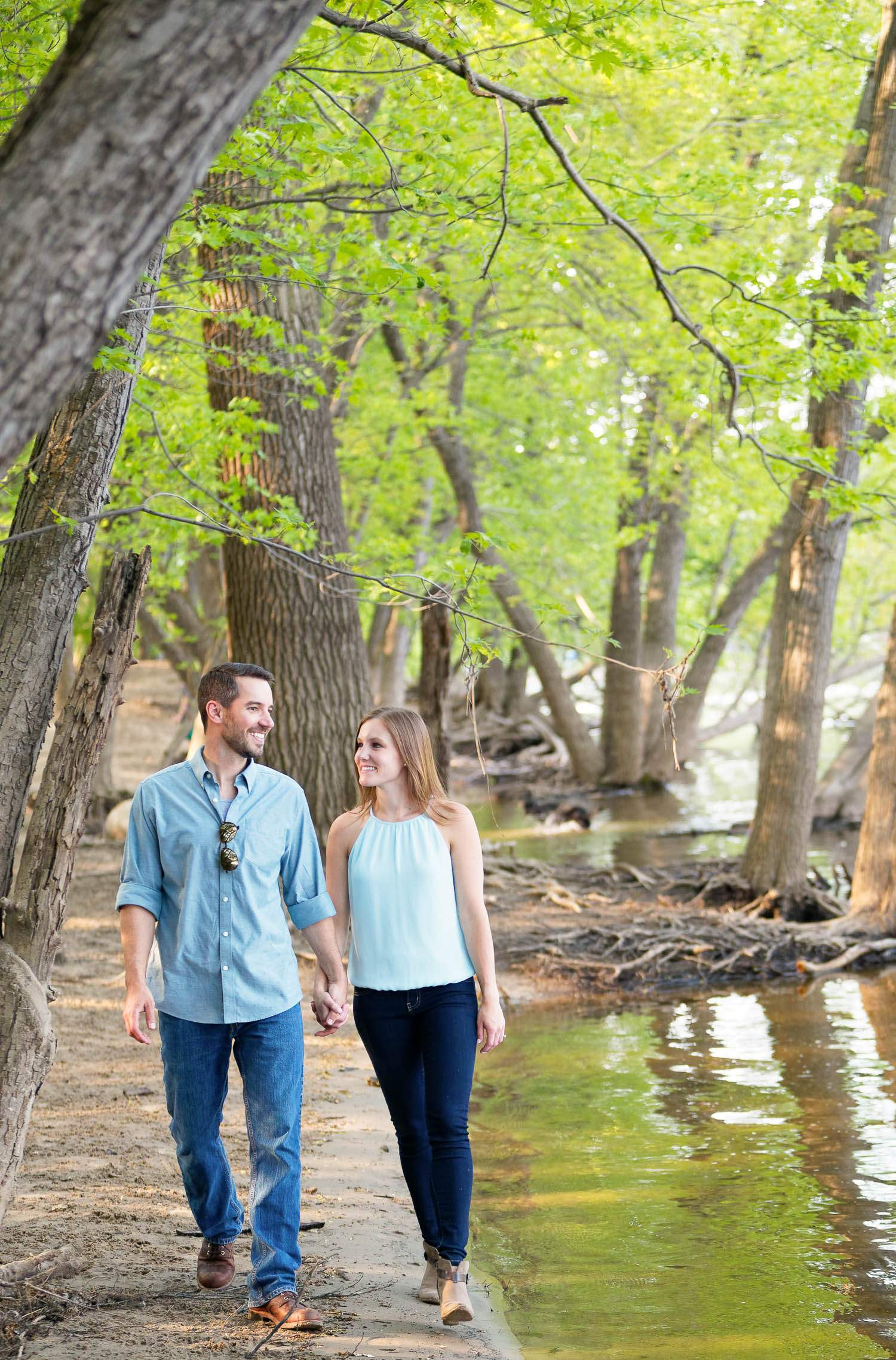 Couple in love in city parks
