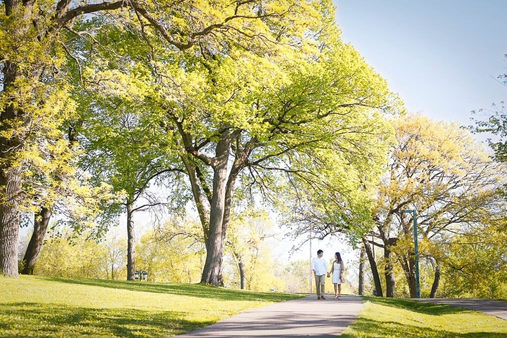 Engagement Session Minnehaha falls Minneapolis Park