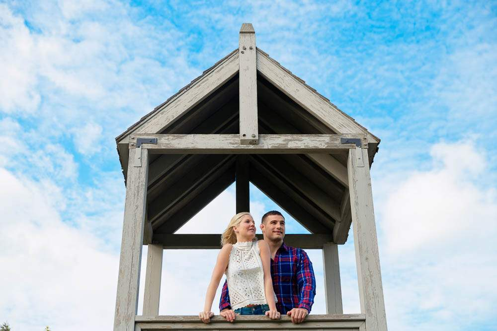 — couples enjoyement with blue sky —