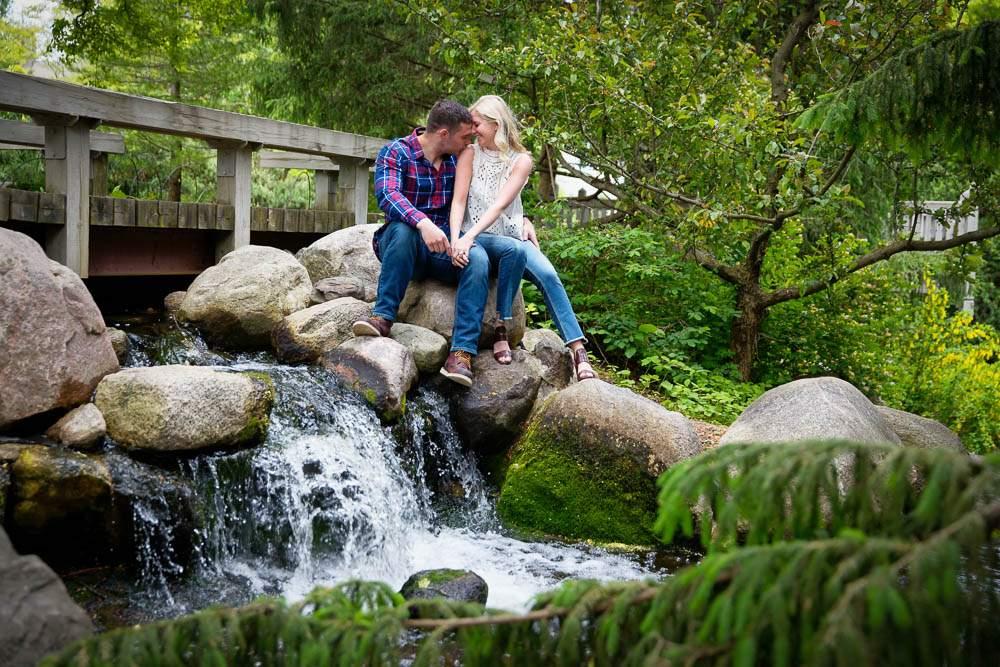 — waterfalls at the rock garden minnesota arboretum —