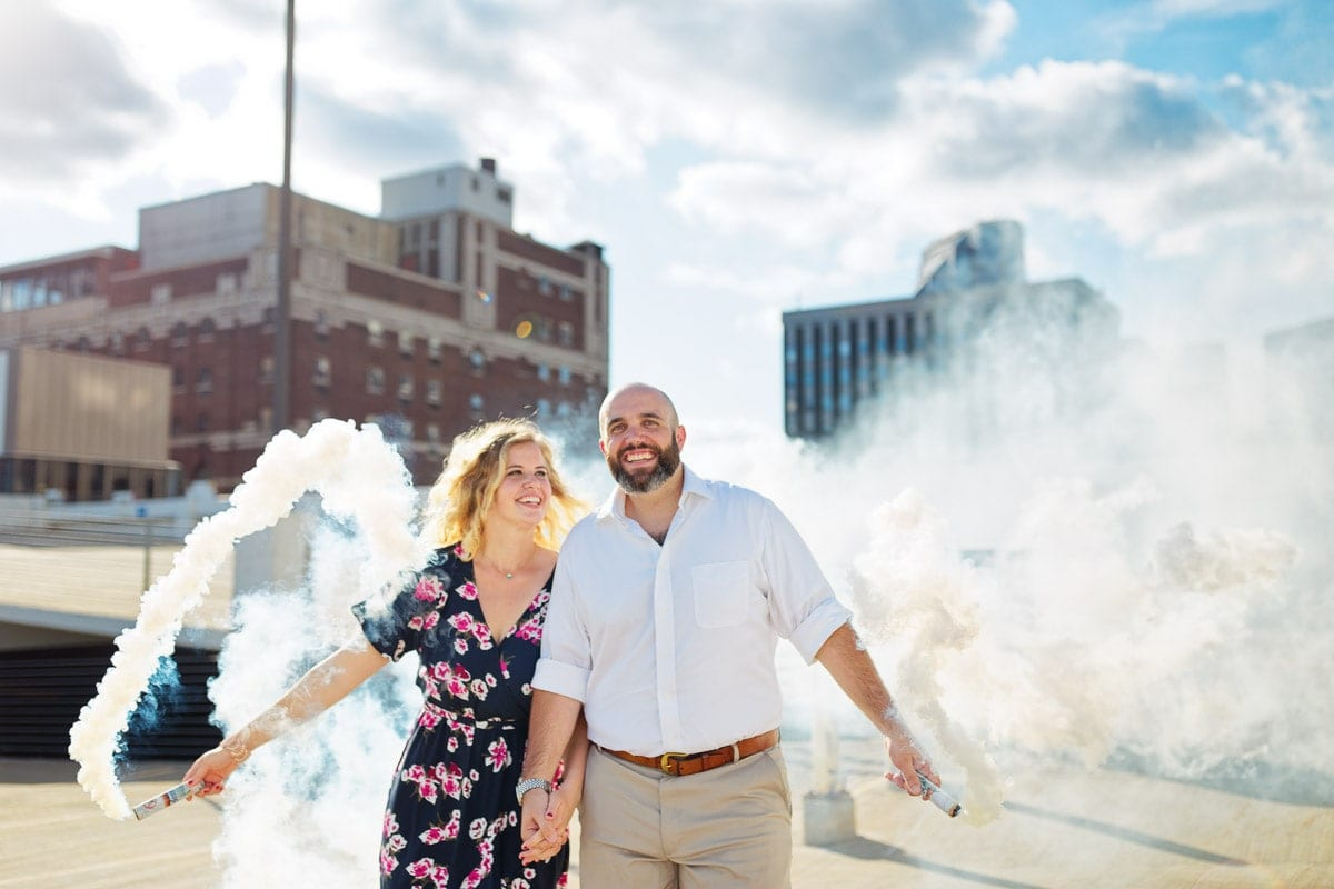 rooftop engagement ceremony