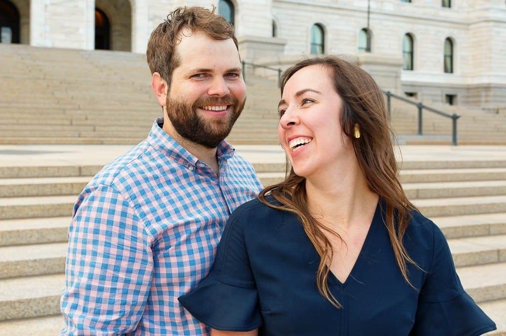 Couple near Saint Paul Cathedrale