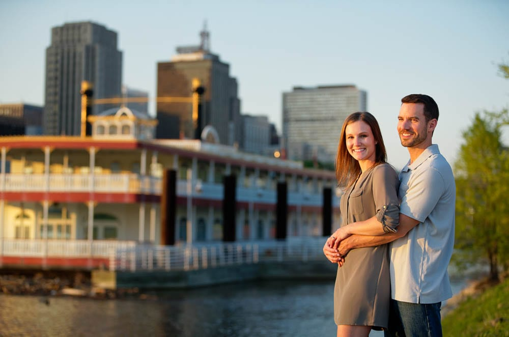 Couple in Front a Steam Boat