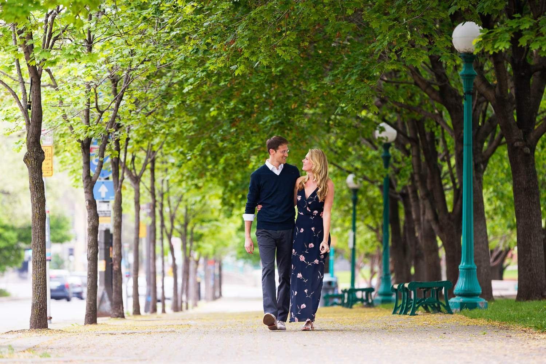 — couple walking in Saint Paul MN —