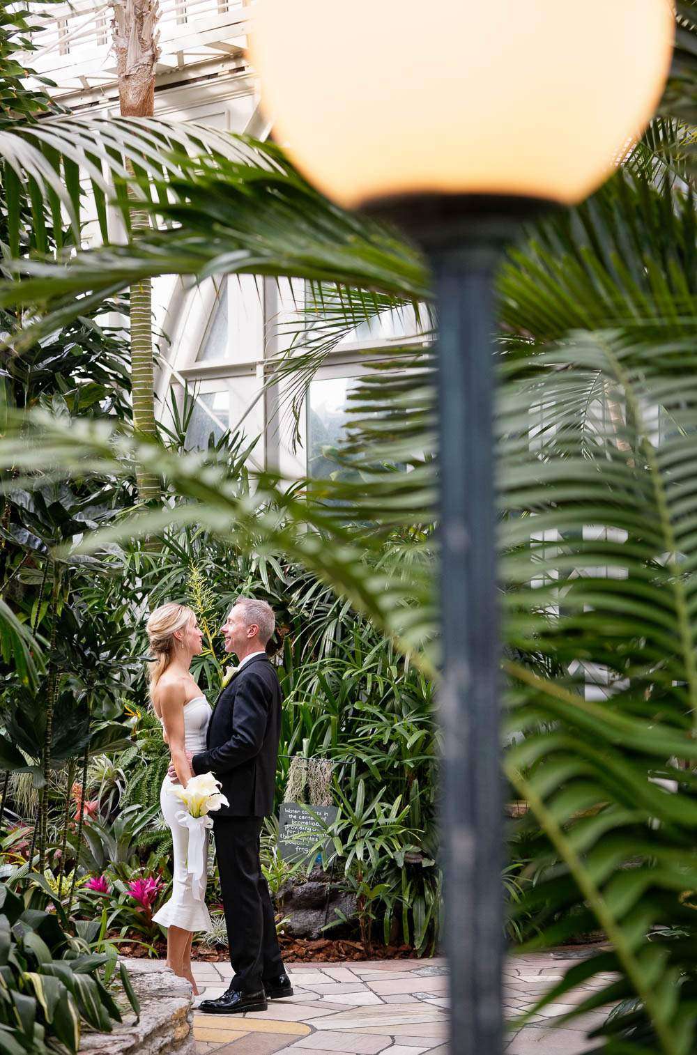 — fiance kissing with exotic plants —