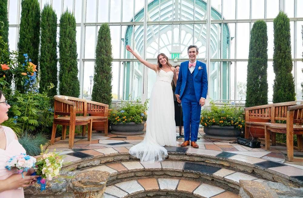 — happy bride groom zoo St Paul conservatory —