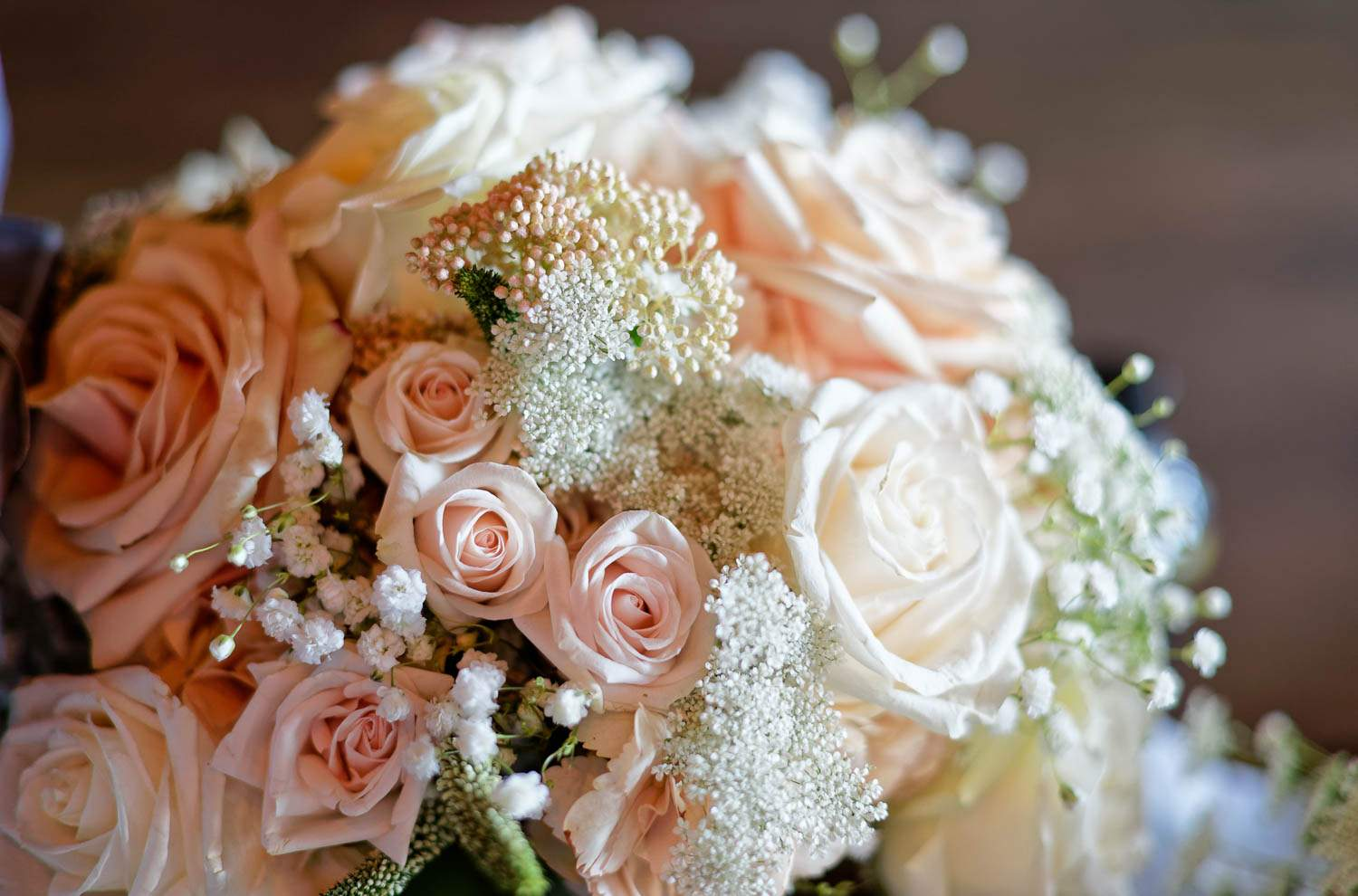 photo of beautiful bouquet of the bride