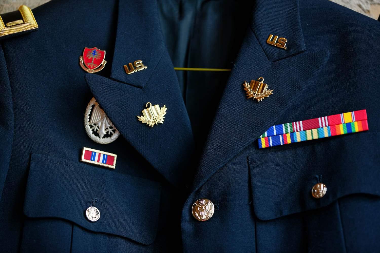 Details of military uniform