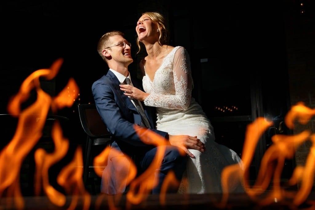 Creative pictures during Wedding at Loft at studio J Stillwater MN