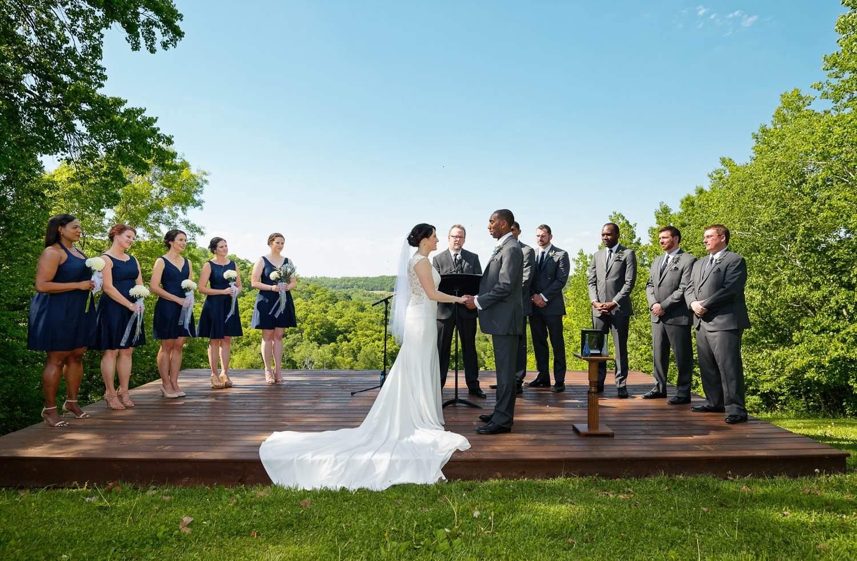 outdoor wedding ceremony mazeppa mn