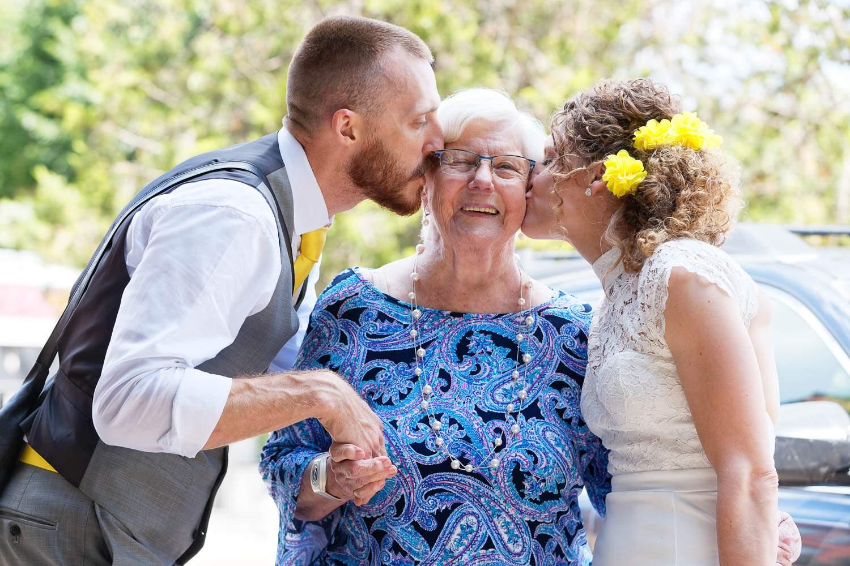 kissing the grandma