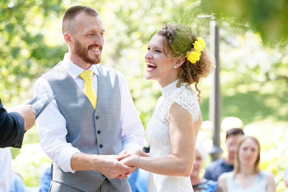 intimate wedding ceremony at irving park