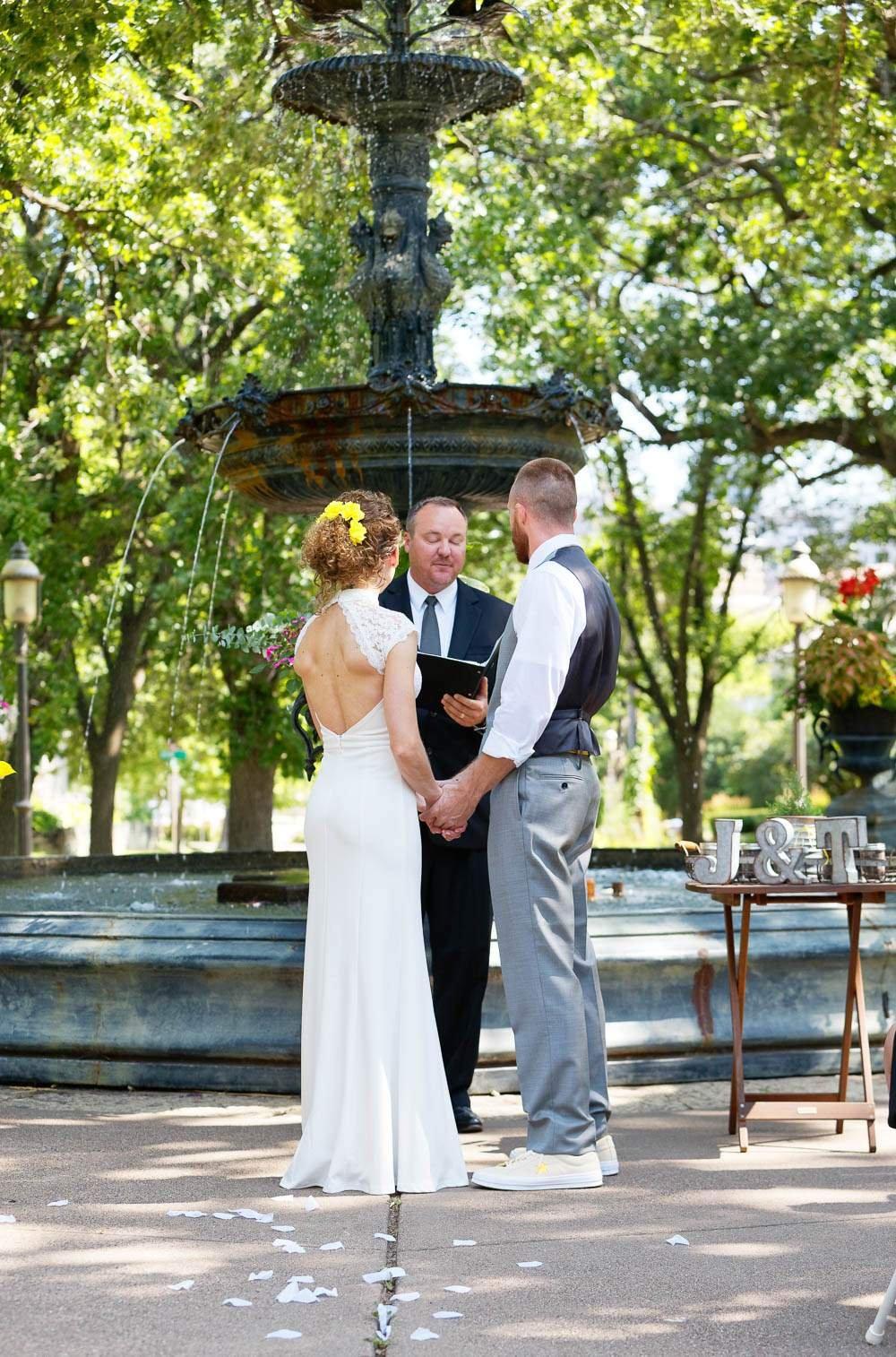 intimate wedding saint paul irving park