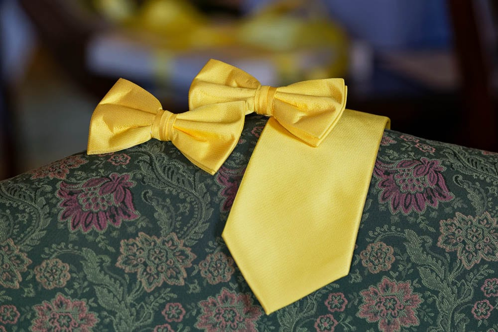 yellow tie and bootie