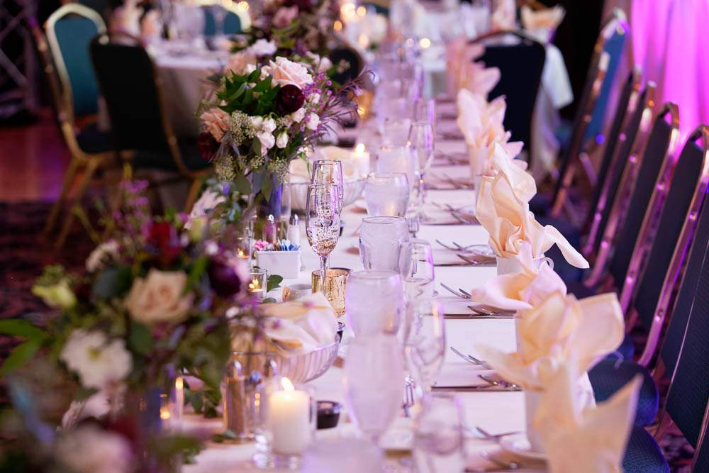 — table decoration with linens—