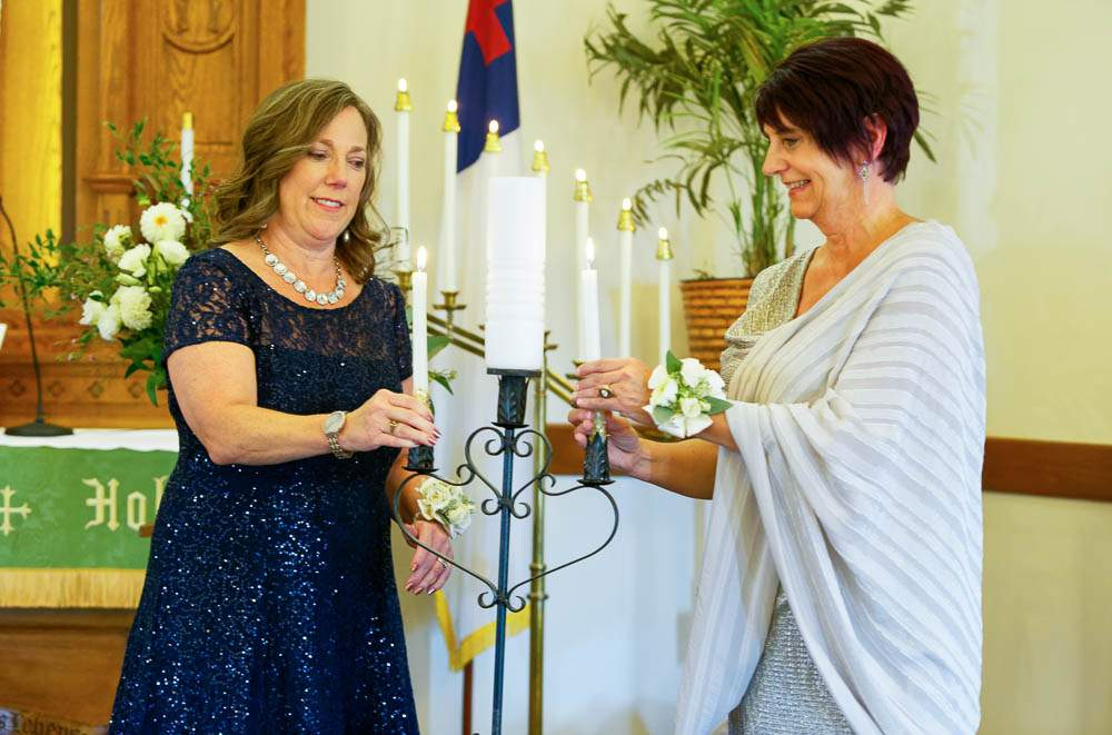 — mothers lighting unity candle —