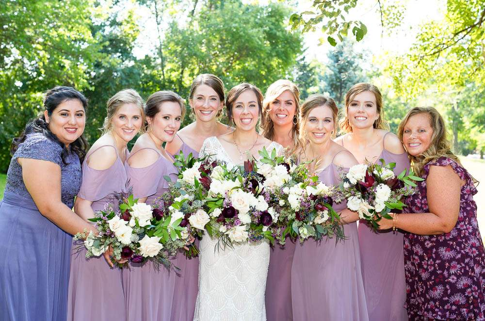 — wedding colors pink to plum —