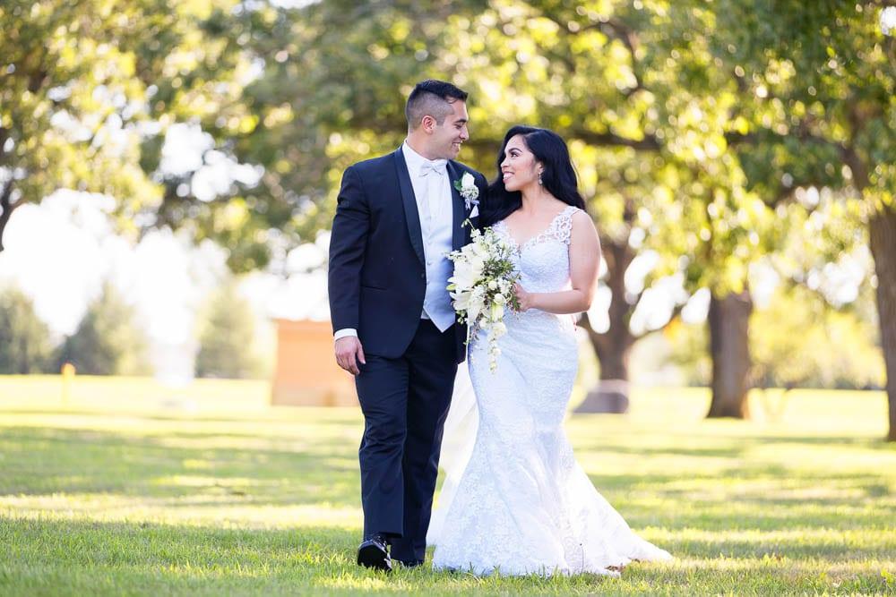 elegant bride and groom on their big day