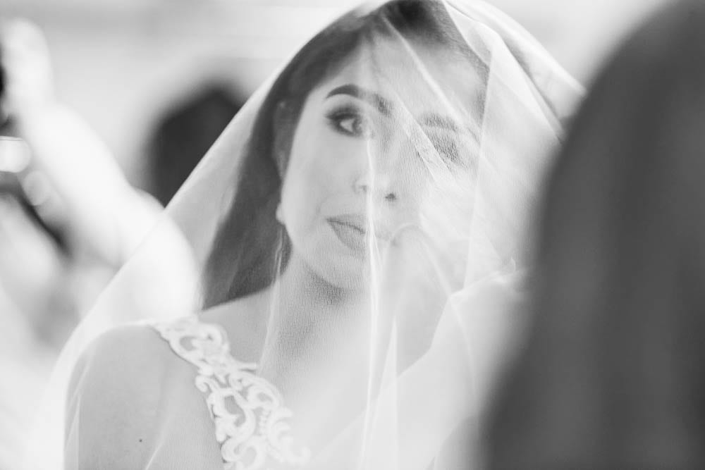 intimate picture of bride tears during getting ready