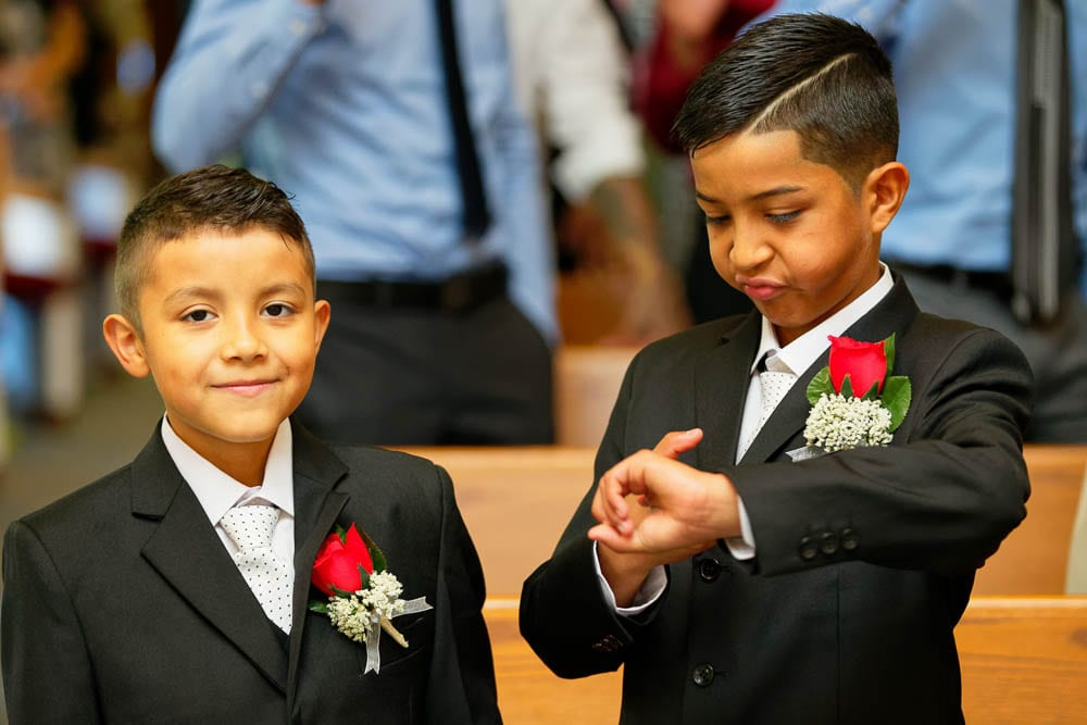 kids during wedding ceremony