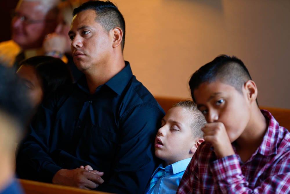 kids sleeping during ceremonies