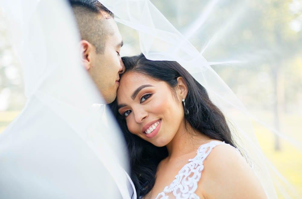 picturesque bride portrait