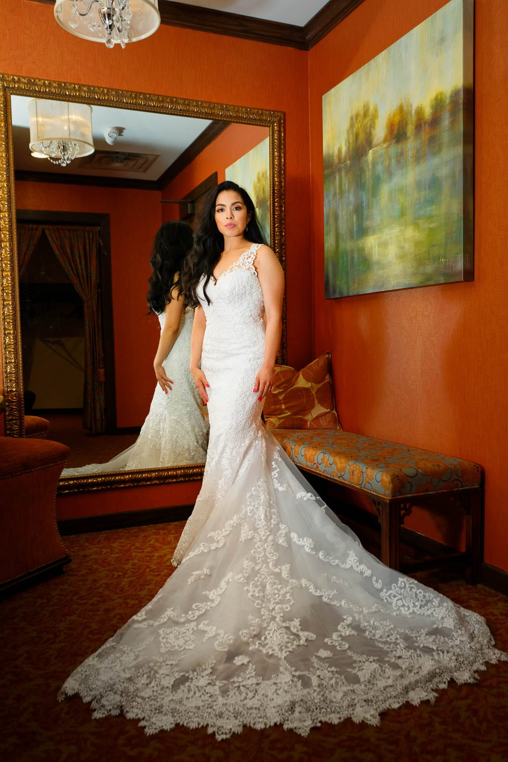Stunning bride and dress with Elegance
