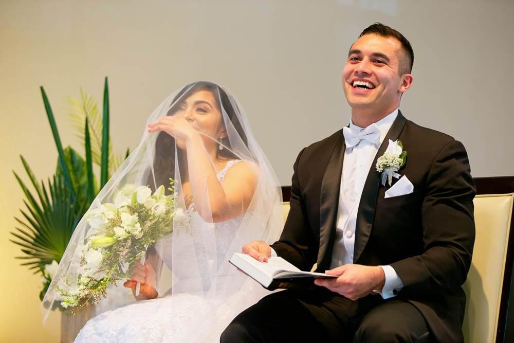 tears of joy at the wedding chapel