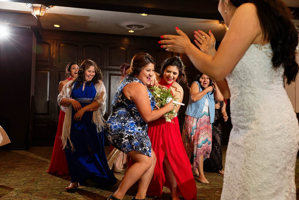Town and Country Club MN flower toss in wedding venue