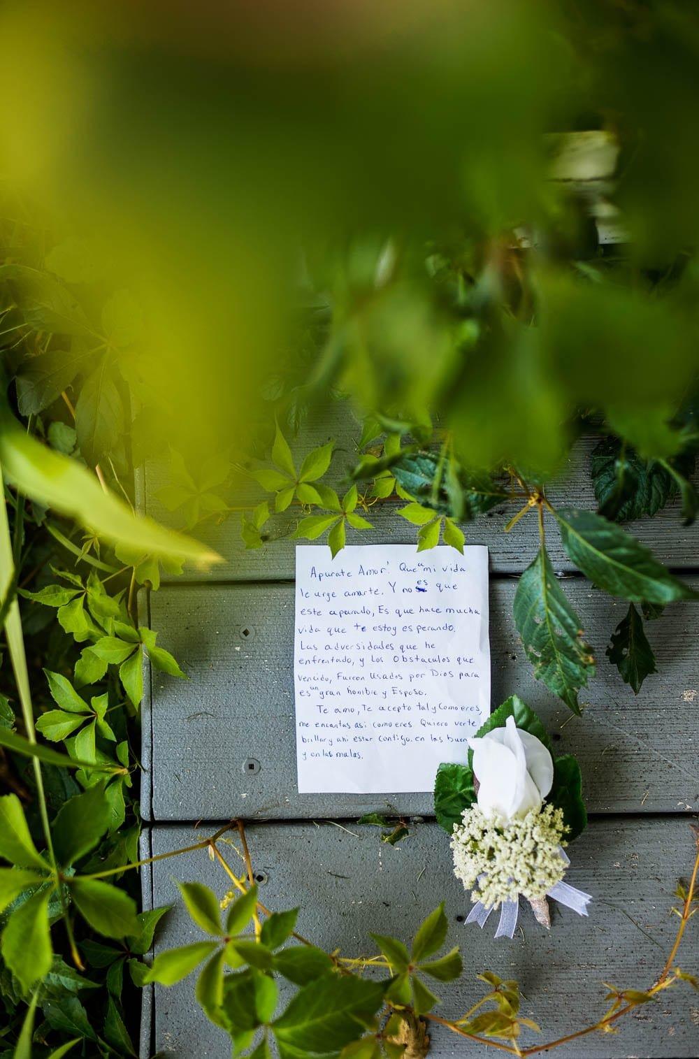 wedding gift letter