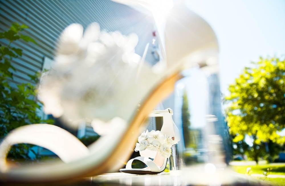 white brides shoes