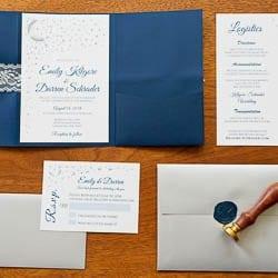 wedding stationery detail photo