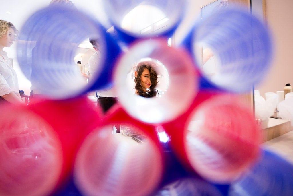 photo through curlers