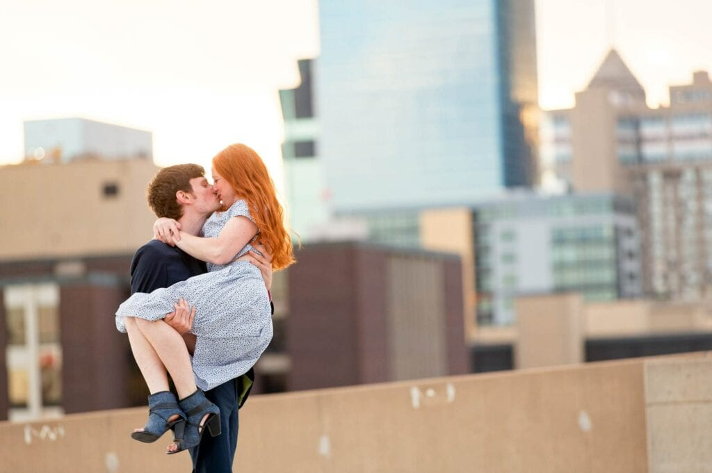 engagement session rooftop minneapolis