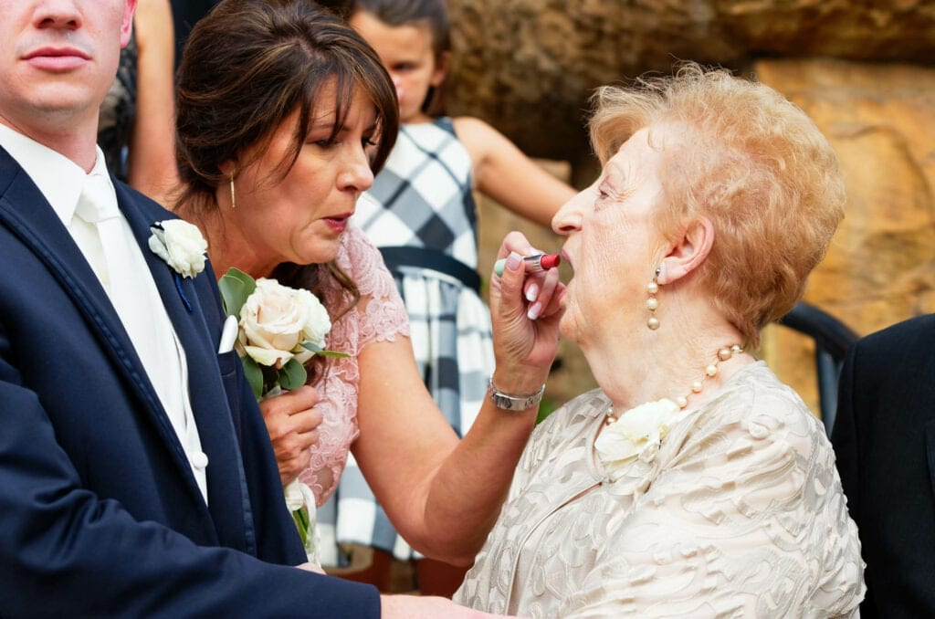 55 grandma need some lipstick