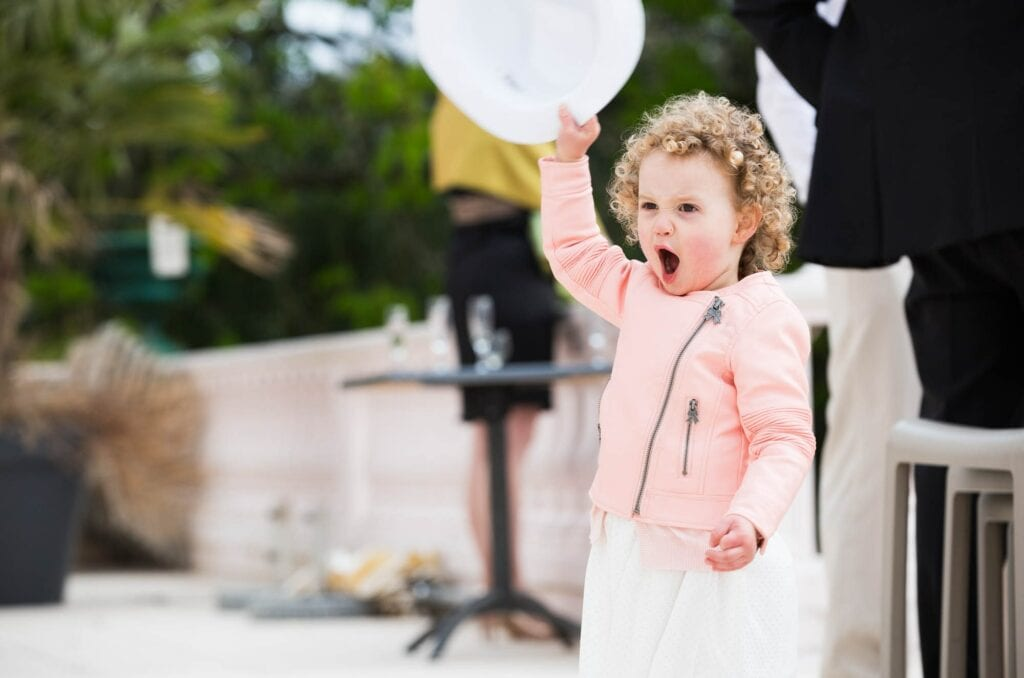 72 excited kid during wedding