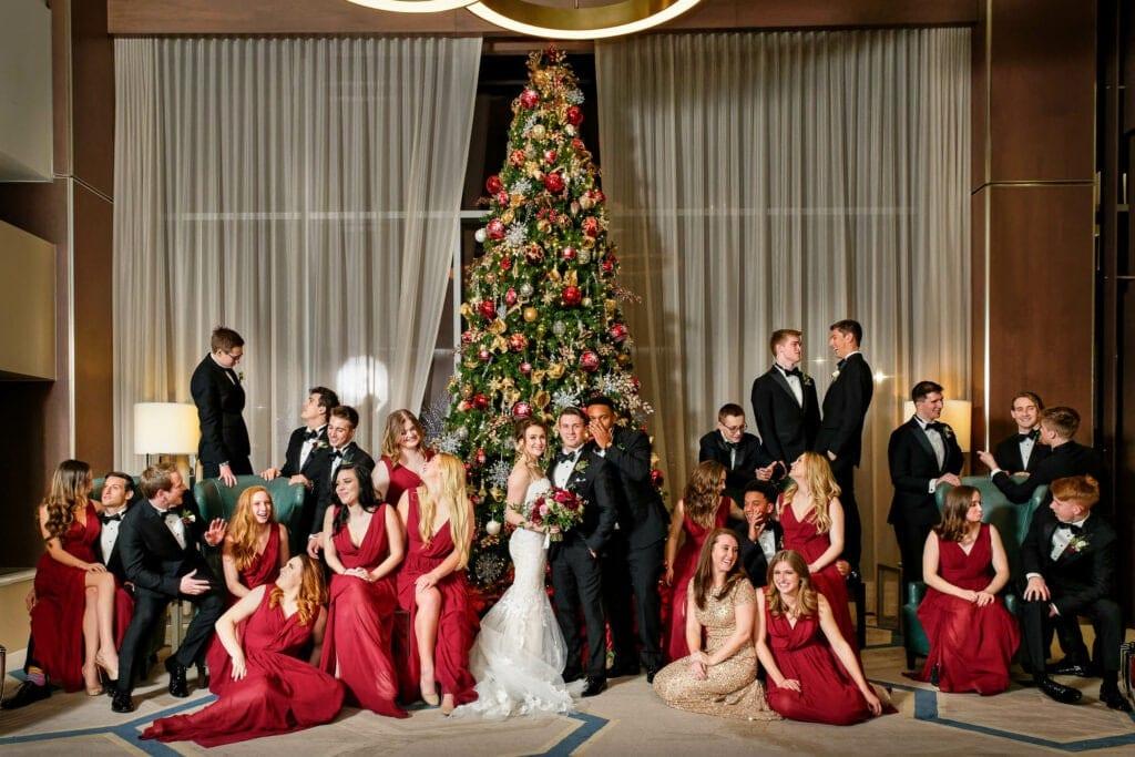 27 group during christmas wedding spirit