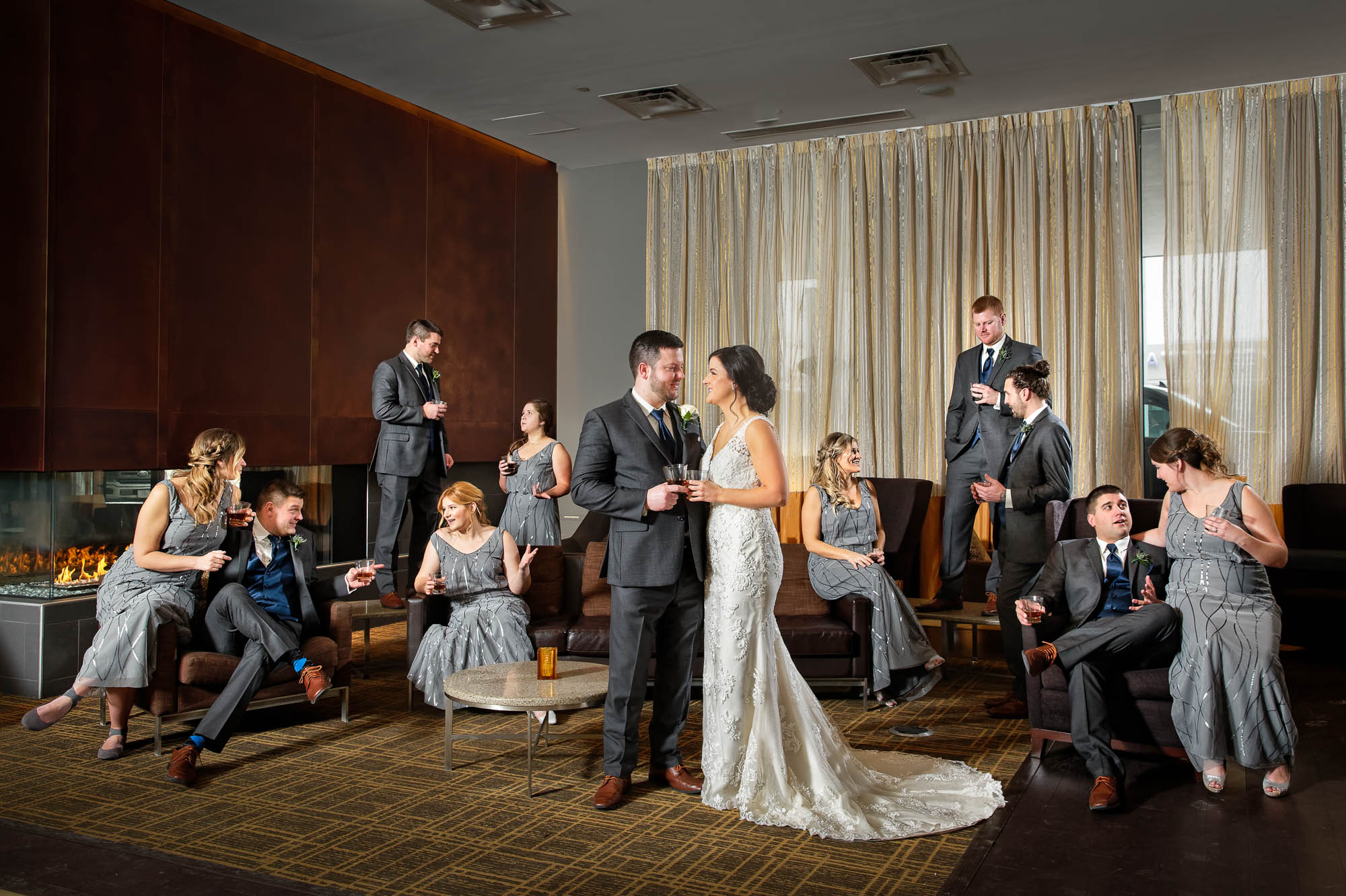 -bridal-party-at-the-hotel-lobby