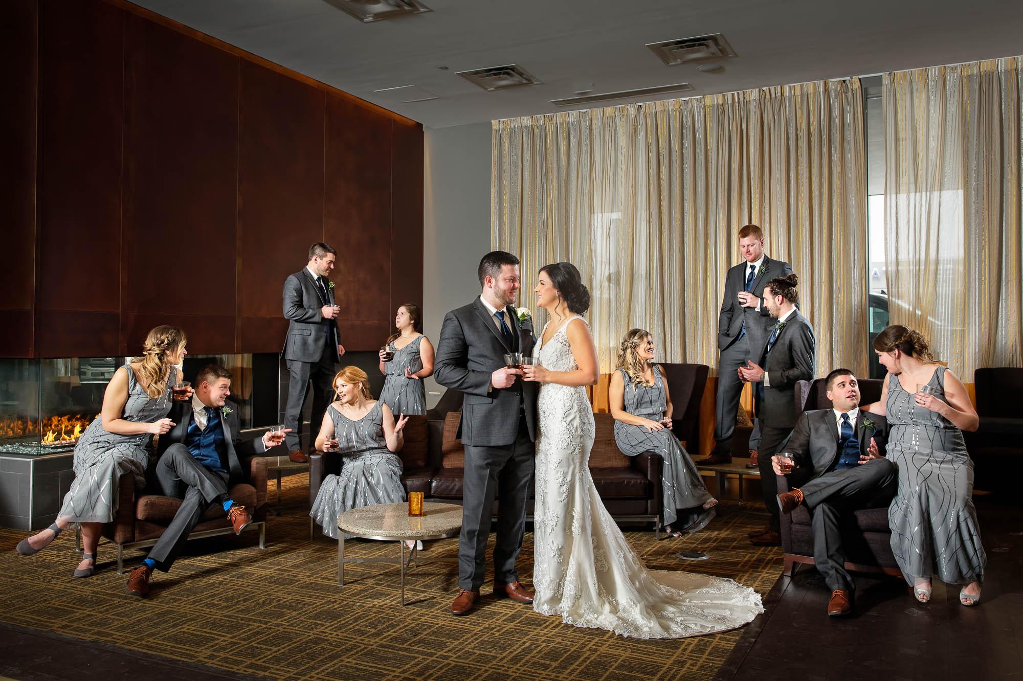 -bridal-party-at-the-hotel-lobby