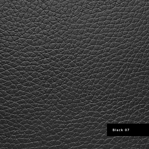 black synthetic leather