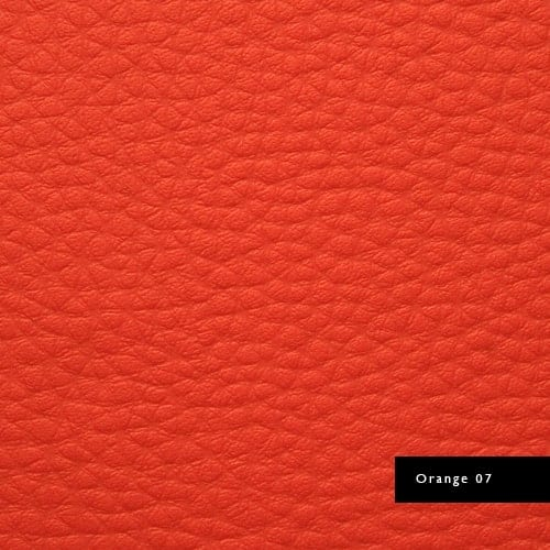 orange synthetic leather
