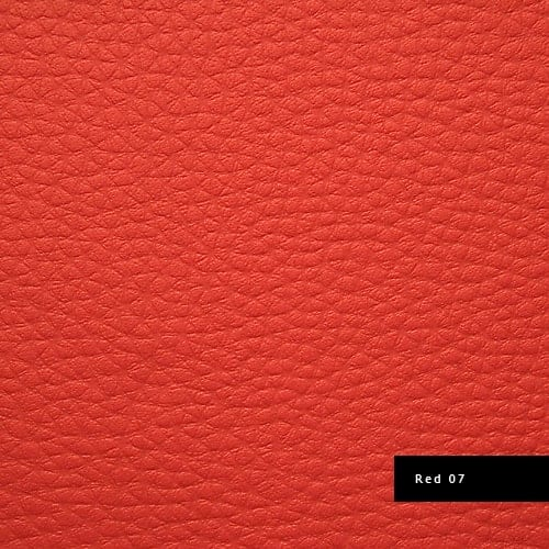 red synthetic leather